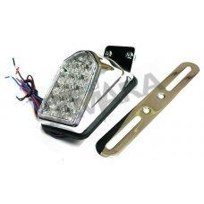 Φανάρι πίσω mini, χρώμιο βάση, LED καθαρά