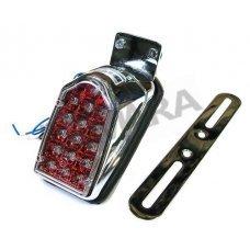Φανάρι πίσω mini, χρώμιο βάση, LED κόκκινο