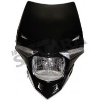 Μάσκα με φανάρι και φλας led μαύρη
