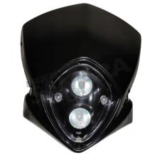 Μάσκα με 2 φανάρια πάνω - κάτω μαύρη
