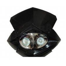 Μάσκα με 2 φανάρια μαύρη-νίκελ